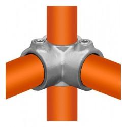 Buiskoppeling Ø21,3 - Hoekstuk doorlopende staander 90°