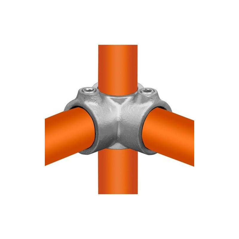 Buiskoppeling Ø26,9 - Hoekstuk doorlopende staander 90°