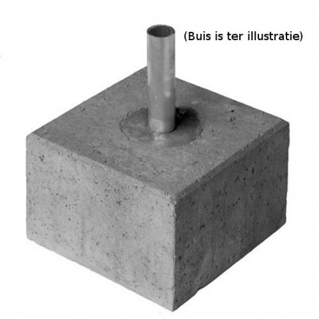 Betonvoet voor buis Ø33,7