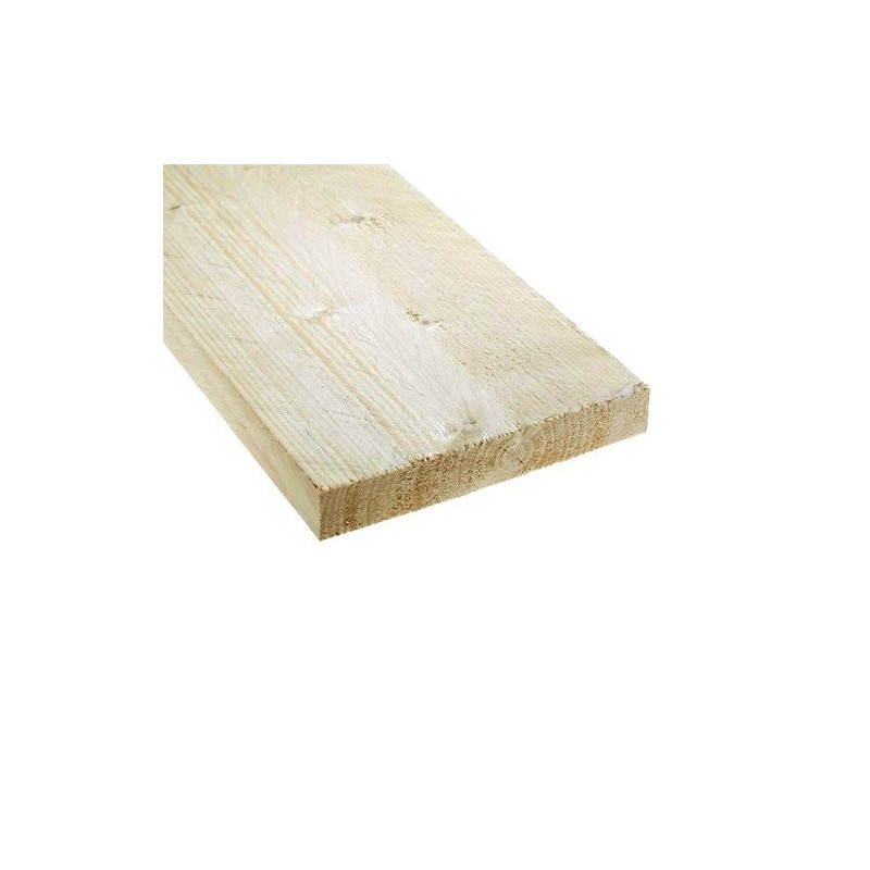 Steigerplank onbehandeld 19,5 x 3,2 x 250 cm
