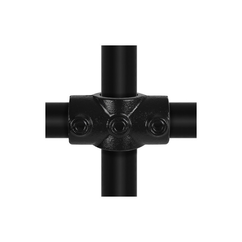 Buiskoppeling Ø33,7 - Kruisstuk Zwart