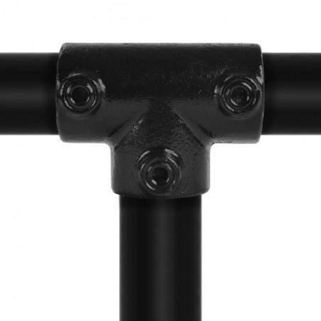 Buiskoppeling Ø42,4 - Lang T-stuk Zwart