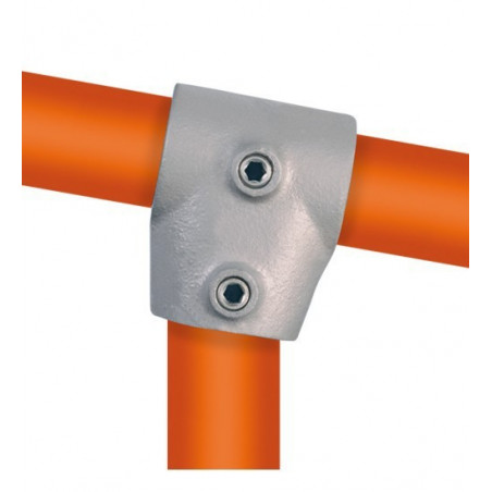 Buiskoppeling Ø42,4 - Kort T-stuk variabele hoek 0 - 11°
