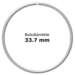 Ring uit steigerbuis Ø33,7