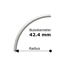 Bocht uit steigerbuis Ø42,4