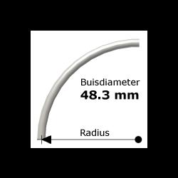 Bocht uit steigerbuis Ø48,3
