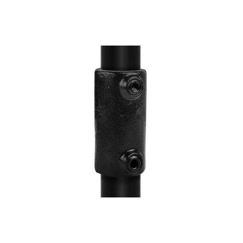 Buiskoppeling Ø33,7 - Recht verbindingsstuk uitwendig Zwart