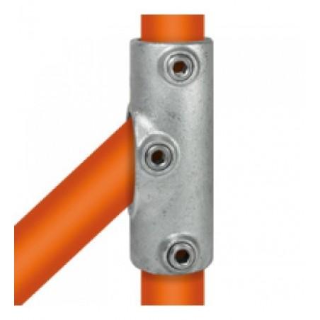 Buiskoppeling Ø33,7 - Railingbevestiging tot 45°