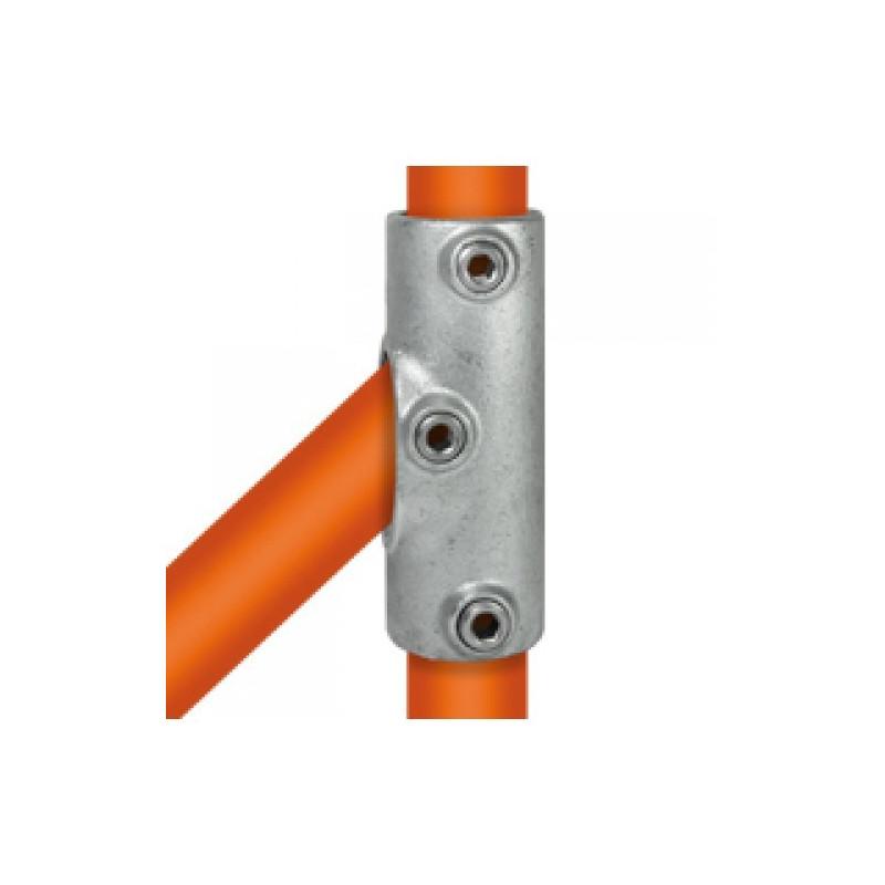 Buiskoppeling Ø42,4 - Railingbevestiging tot 45°