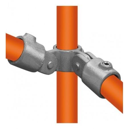 Buiskoppeling Ø33,7 - Buiskoppeling - Scharnierstuk dubbel 90° (compleet)