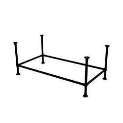 Zwart Onderstel Tafel - buis Ø42.4 met...
