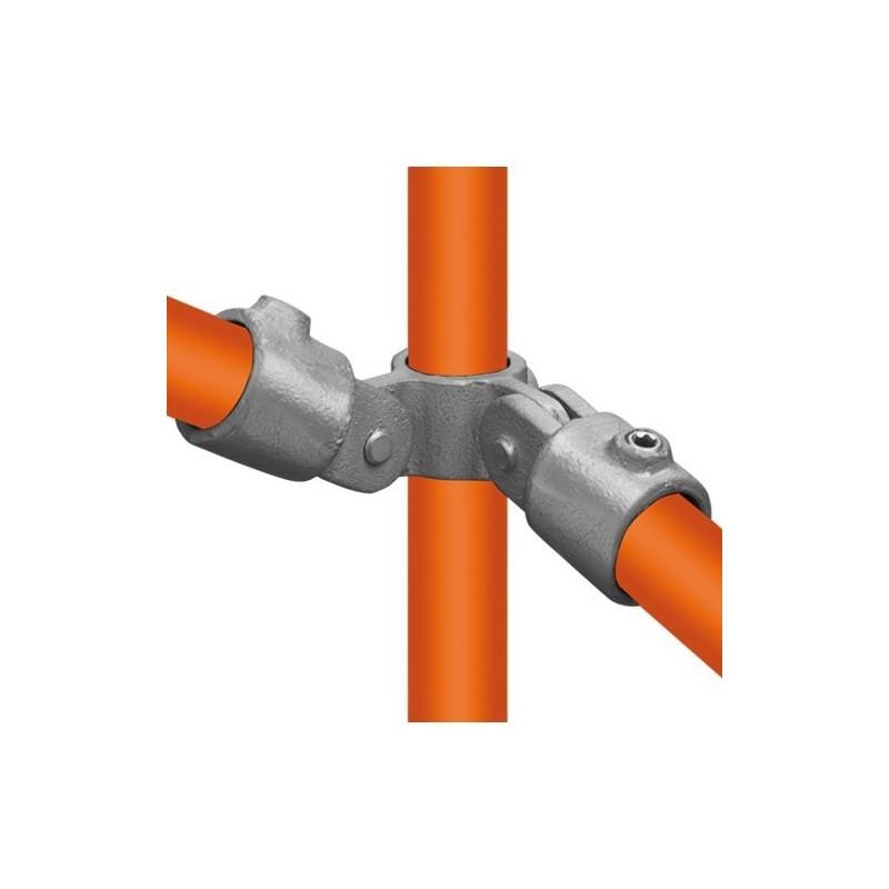 Buiskoppeling Ø48,3 - Buiskoppeling - Scharnierstuk dubbel 90° (compleet)