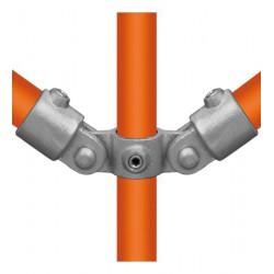 Buiskoppeling Ø42,4 - Buiskoppeling - Scharnierstuk dubbel 180° (compleet)