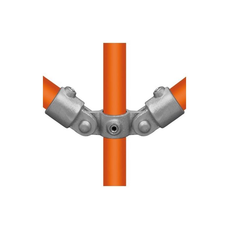 Buiskoppeling Ø48,3 - Buiskoppeling - Scharnierstuk dubbel 180° (compleet)
