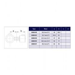 Buiskoppeling Ø42,4 - Buiskoppeling - Scharnierstuk enkel (compleet)