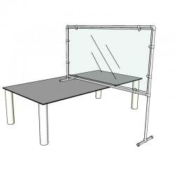 Preventiescherm 100 x 185 cm Bureau - buis...