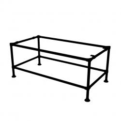 Zwart werkbank onderstel tafel - buis Ø33,7...