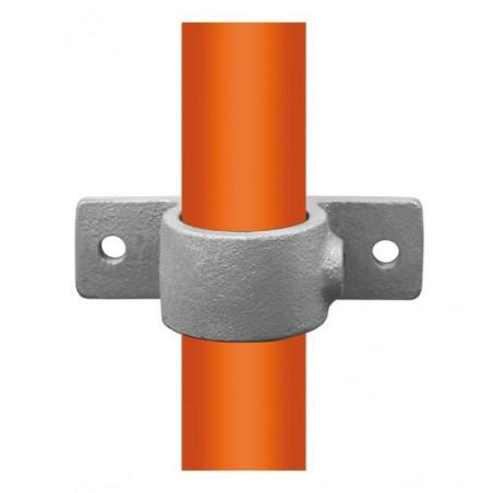 Buiskoppeling Ø42,4 - Dubbele bevestigingslip 180° uitwendig