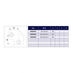 Buiskoppeling Ø42,4 - Kniestuk variabel 0º - 11º