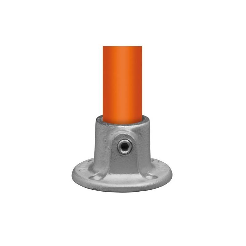 Buiskoppeling Ø42,4 - Ronde wand/plafond/voetplaat