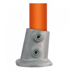 Buiskoppeling Ø26,9 - Ronde wand/plafond/voetplaat variabel 0-11°