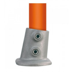 Buiskoppeling Ø42,4 - Wand/plafond/voetplaat variabel 0-11°