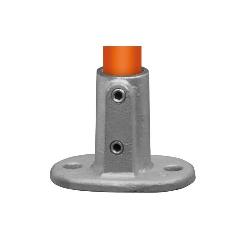 Buiskoppeling Ø33,7 - Voetplaat ovaal