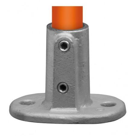 Buiskoppeling Ø42,4 - Voetplaat ovaal