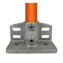 Buiskoppeling Ø42,4 - Schoprand voetplaat