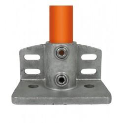 Buiskoppeling Ø48,3 - Schoprand voetplaat