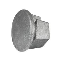 Buiskoppeling Ø42,4 - Inslagdop metaal