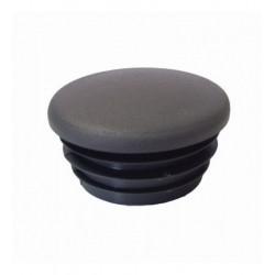 Buiskoppeling Ø21,3 - Inslagdop zwart kunststof