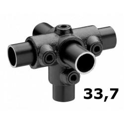 Zwarte buiskoppeling Ø33,7