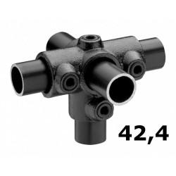 Zwarte buiskoppeling Ø42,4